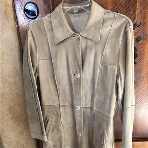 MINT! Vintage Suede Trench in Light Cream.,Classy!